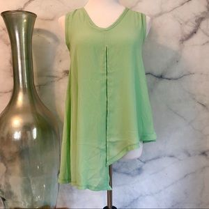 3/$20 Seafoam Green Asymmetrical Sleeveless Blouse